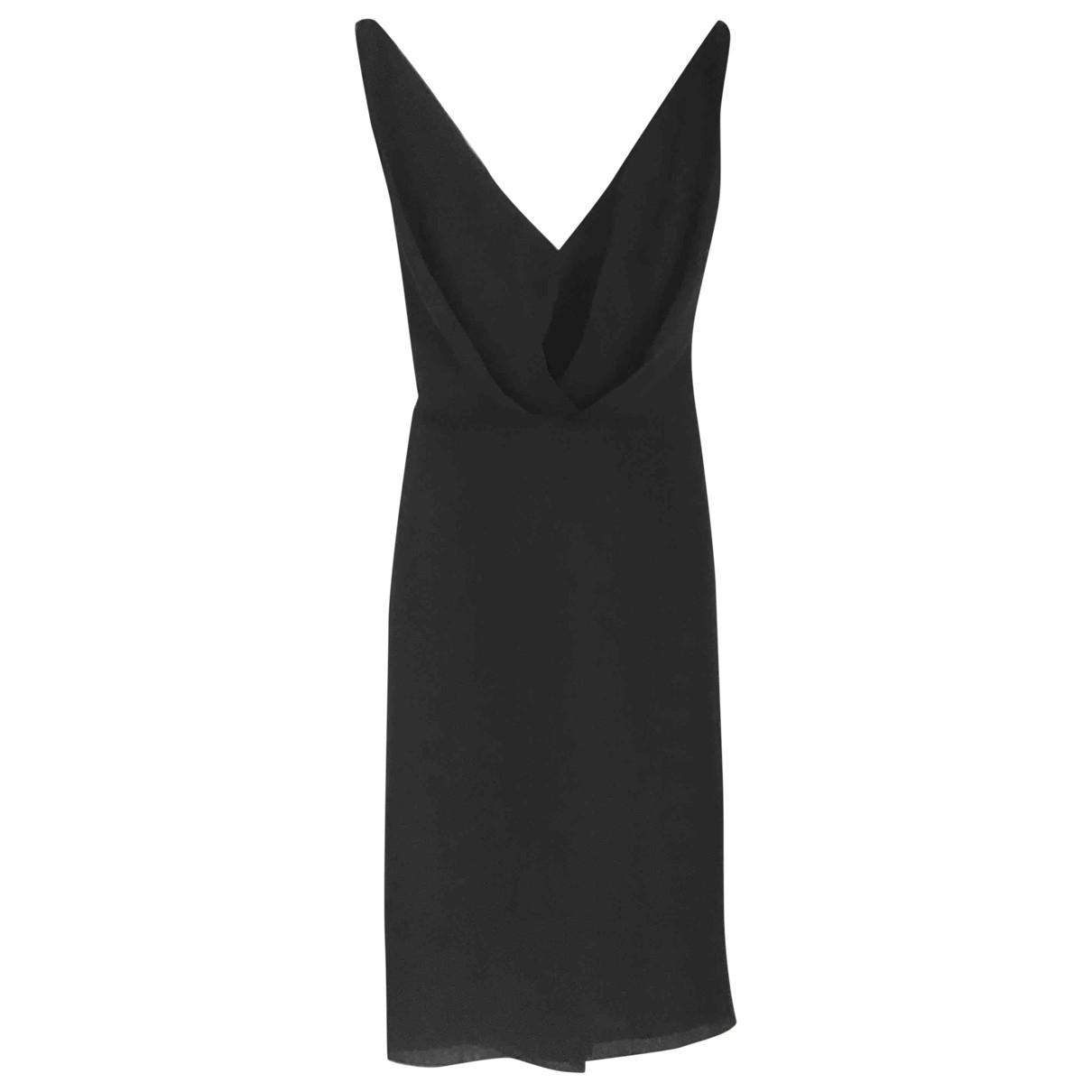 Martin Grant \N Kleid in  Schwarz Seide