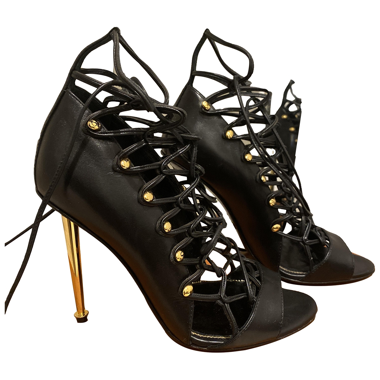 Tom Ford \N Sandalen in  Schwarz Leder