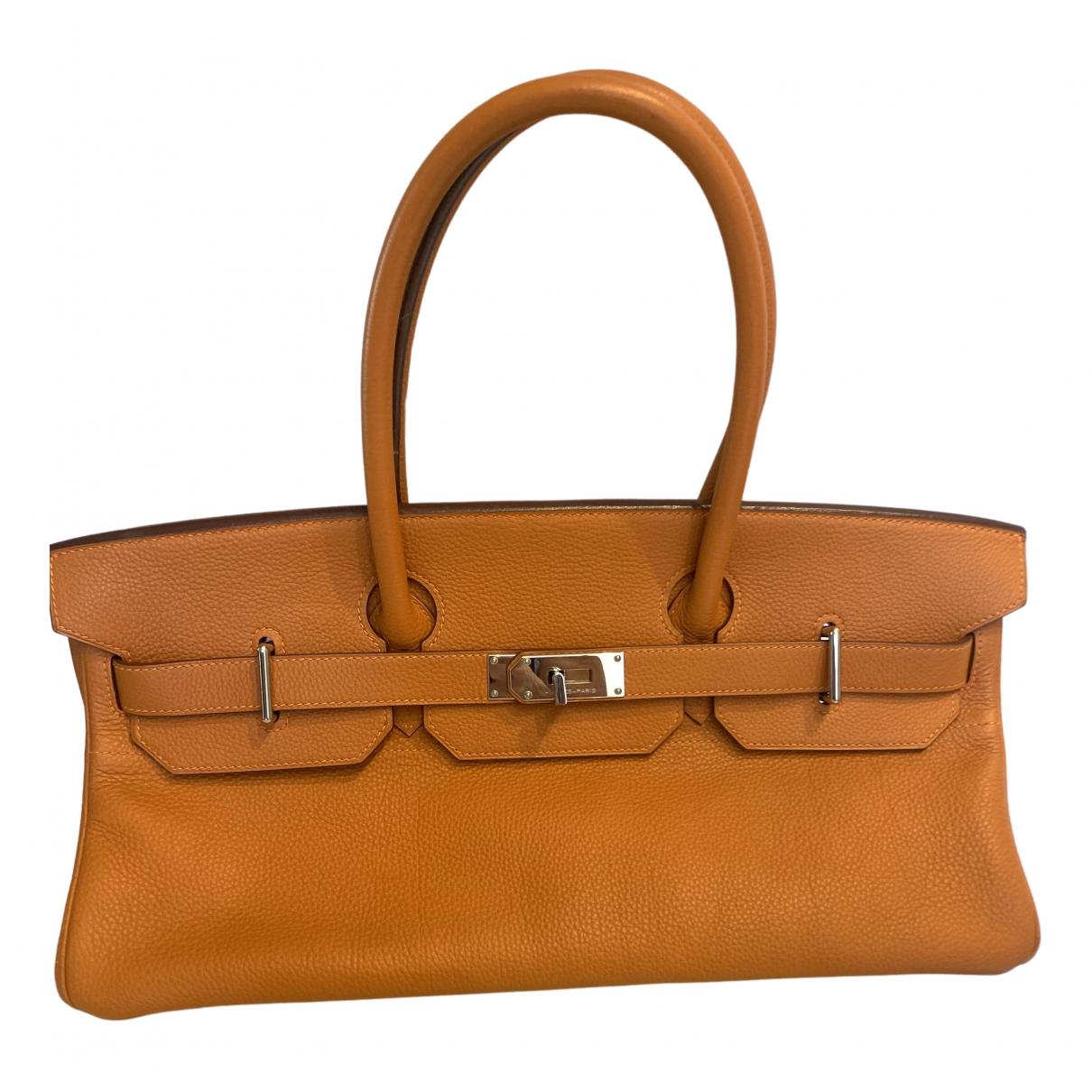 Hermès Birkin Shoulder Orange Leather handbag for Women \N