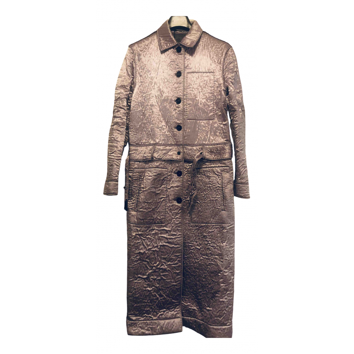 Bottega Veneta - Manteau   pour femme en laine - metallise