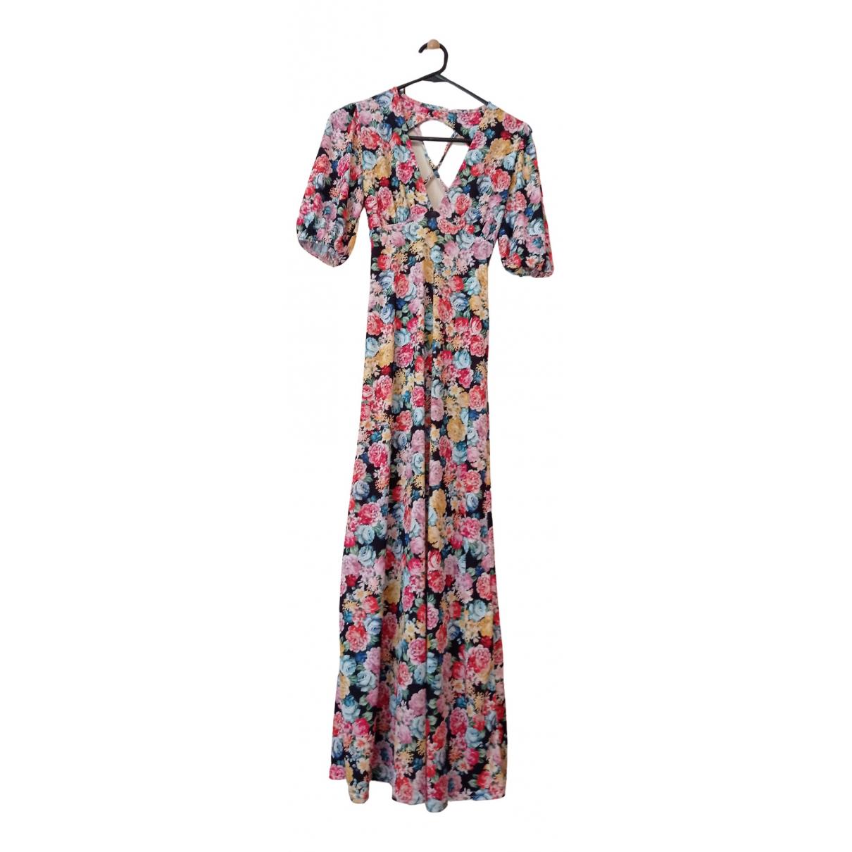 Asos - Robe   pour femme en coton - elasthane - multicolore