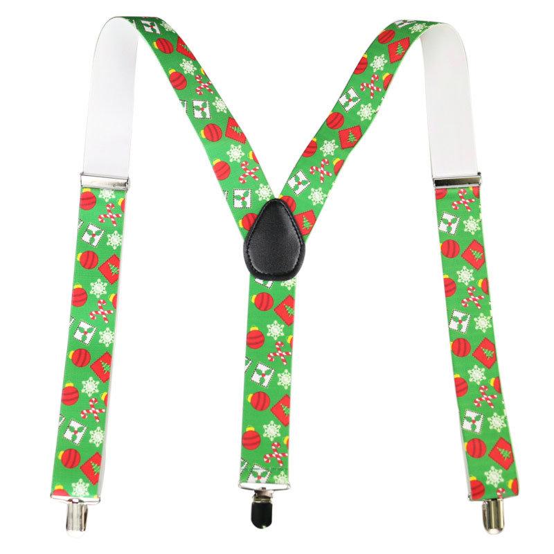 Christmas Old Man Strap Clip 3.5cm Wide Suspender Belt
