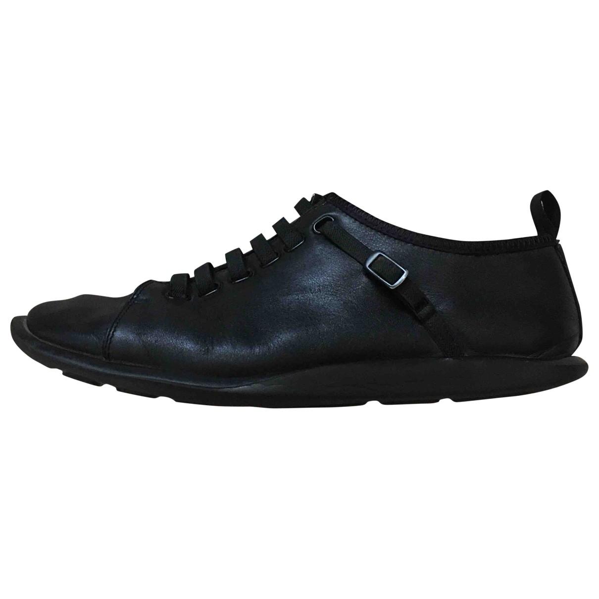 Camper \N Stiefel in  Schwarz Leder