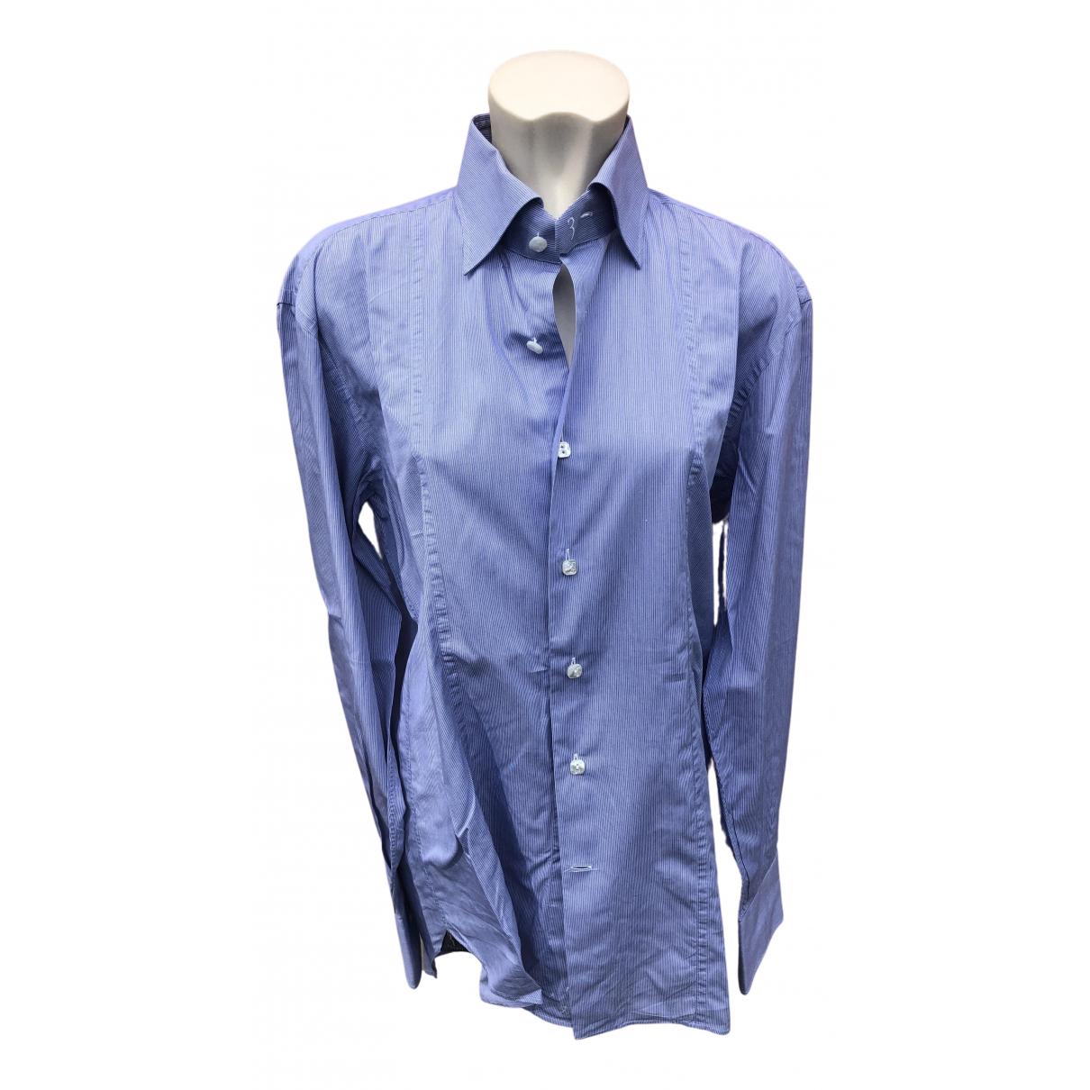 Billionaire Boys Club N Blue Cotton Shirts for Men 41 EU (tour de cou / collar)