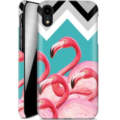 Apple iPhone XR Smartphone Huelle - Flamingo Pattern von Mark Ashkenazi