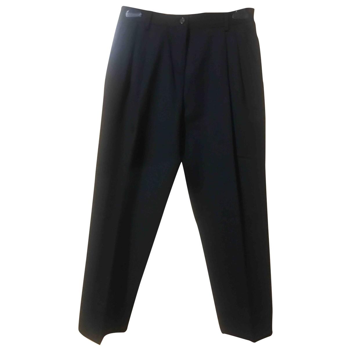 Dolce & Gabbana \N Black Wool Trousers for Women 36 IT