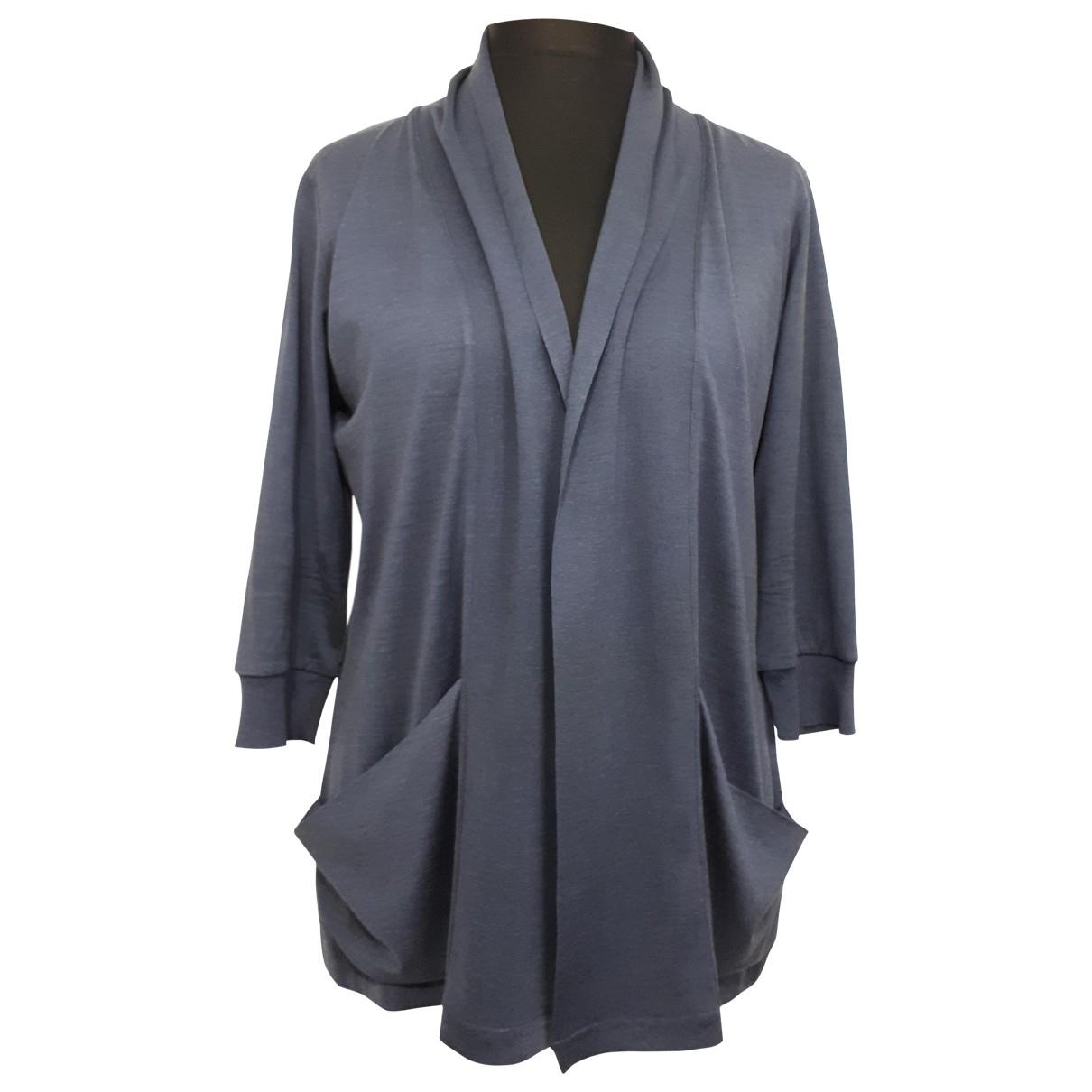 Jaeger \N Pullover in  Blau Seide