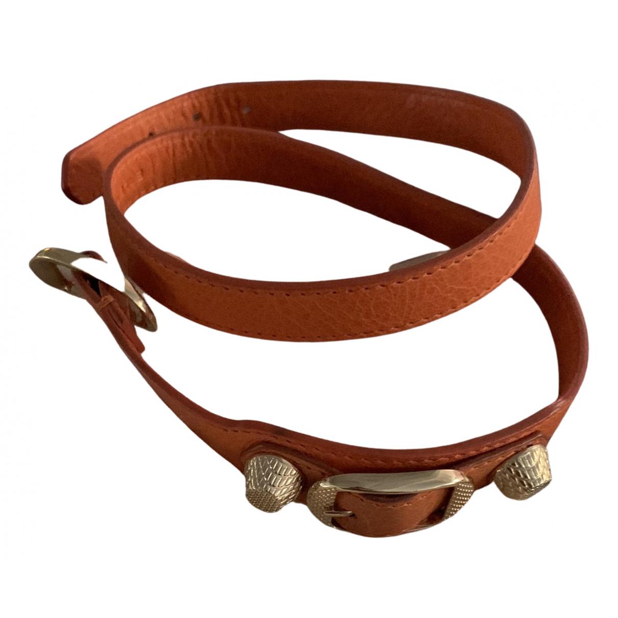 Balenciaga - Bracelet   pour femme en cuir - orange