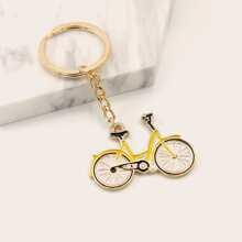 Llavero con diseño de bicicleta