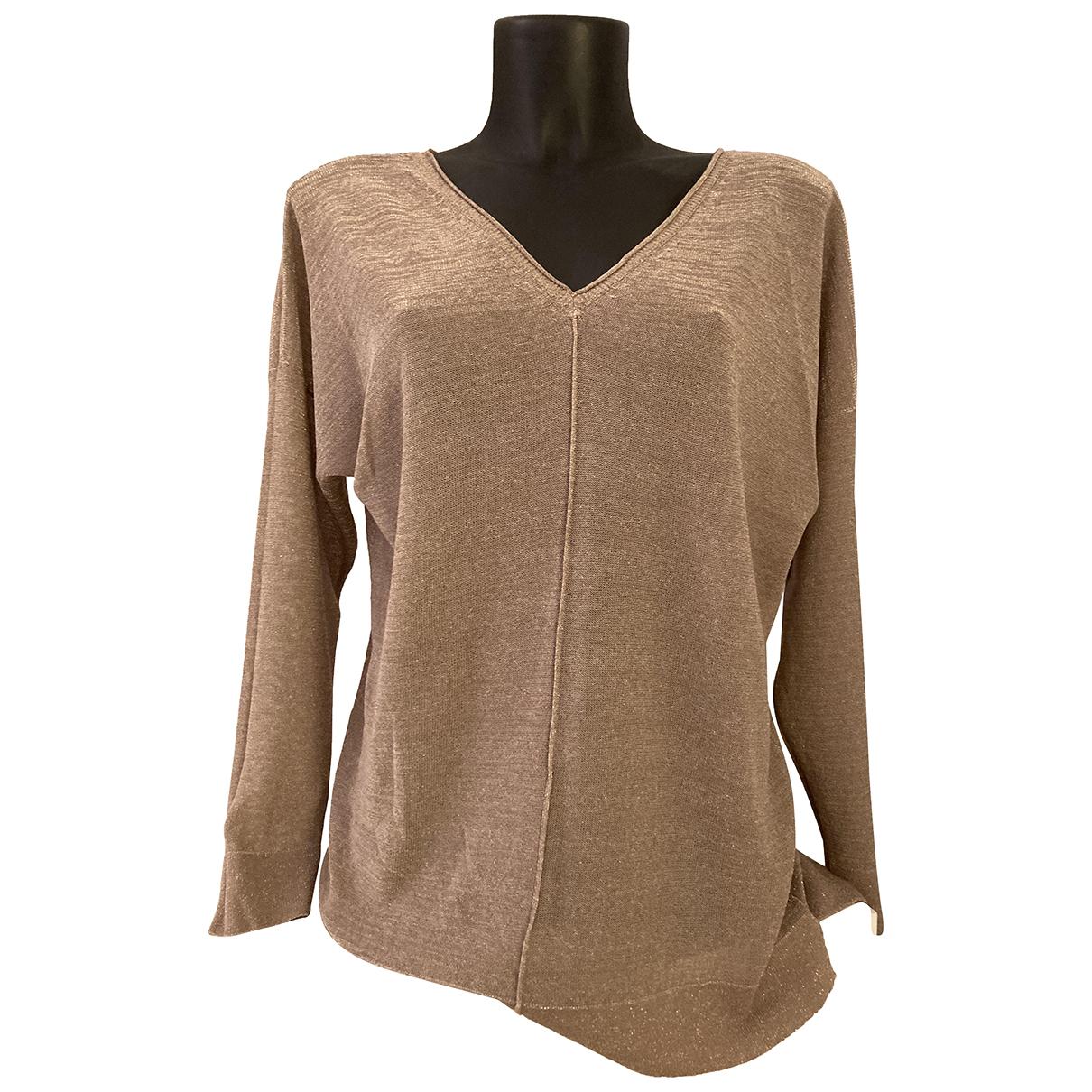 Gerard Darel - Pull   pour femme en coton - dore