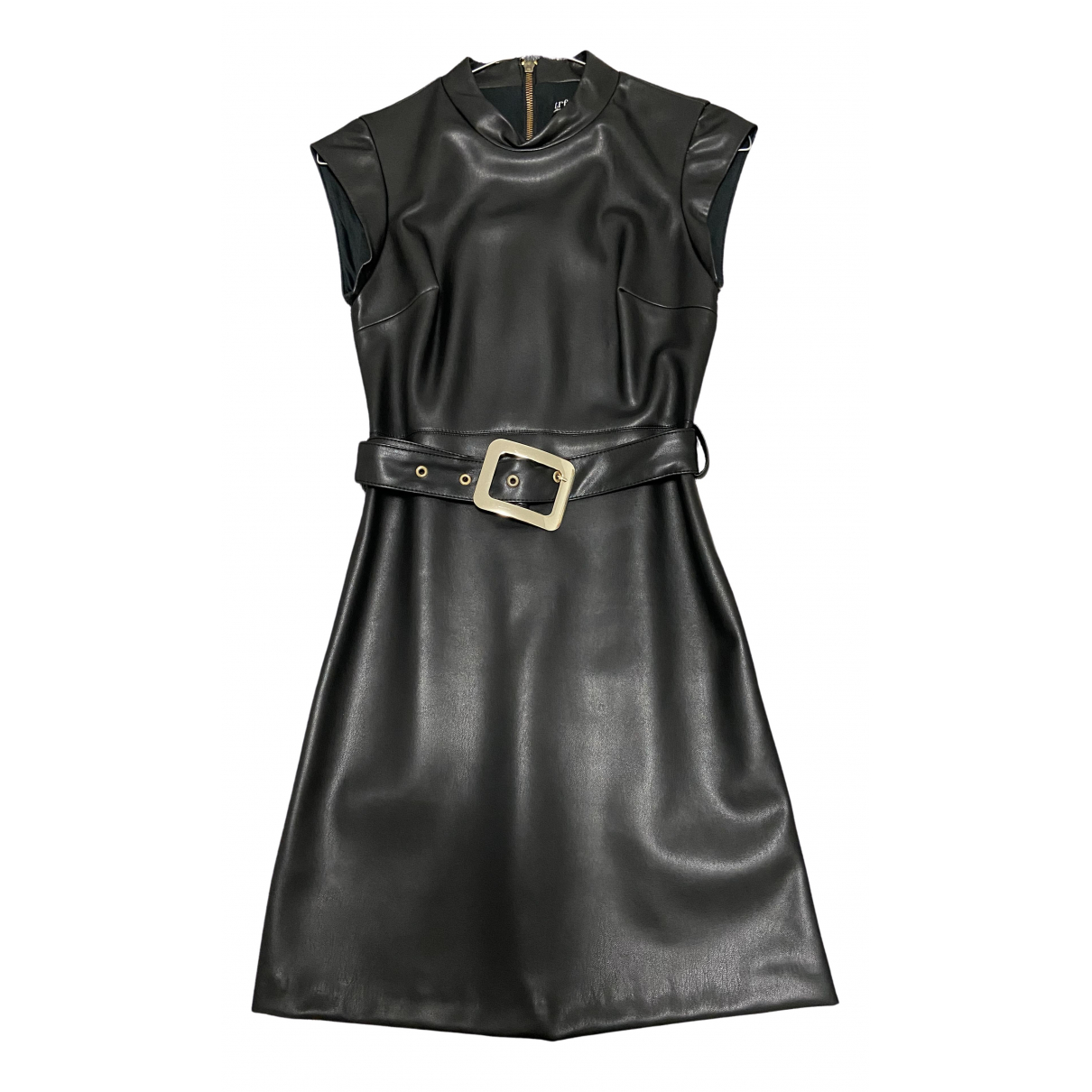 Zara \N Black Leather dress for Women XS International