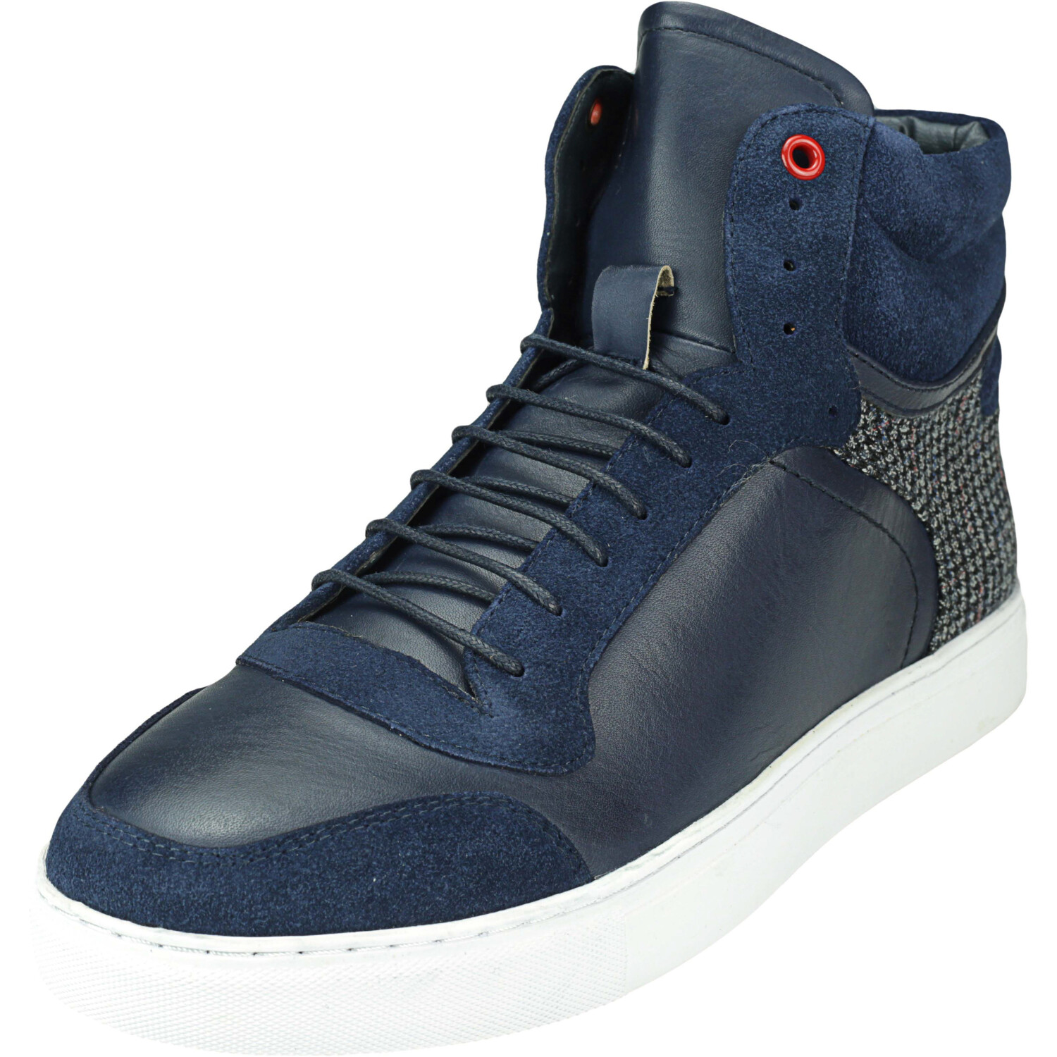 English Laundry Men's George Blue High-Top Leather Sneaker - 9M