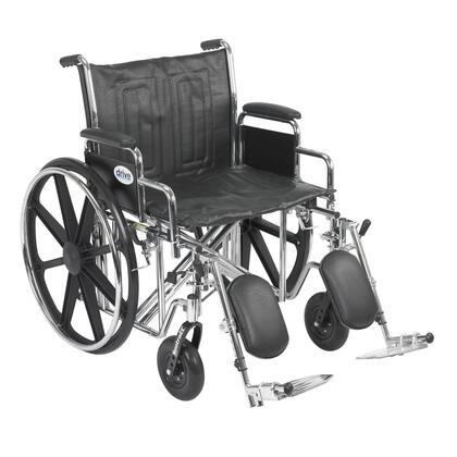 std22ecdda-elr Sentra Ec Heavy Duty Wheelchair  Detachable Desk Arms  Elevating Leg Rests  22