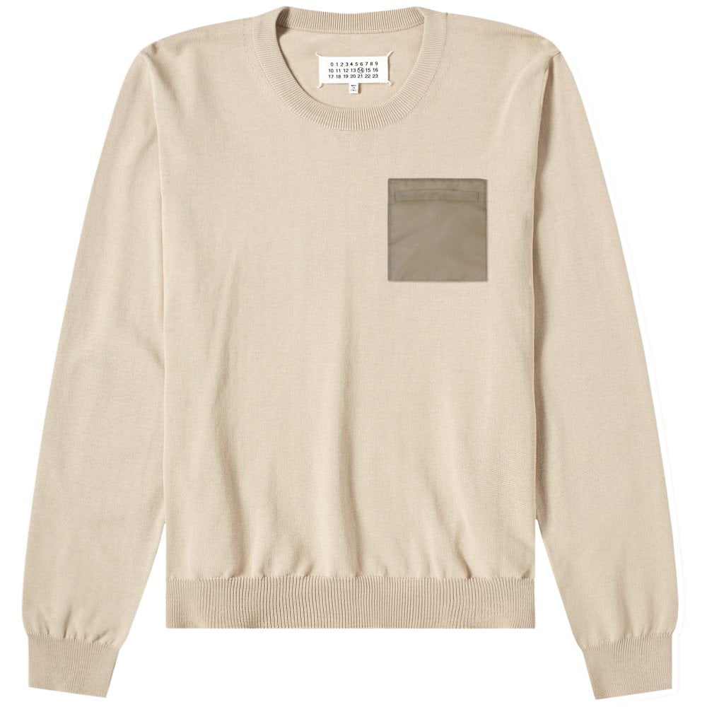 Maison Margiela Pocket Patch Sweatshirt Colour: BEIGE, Size: LARGE