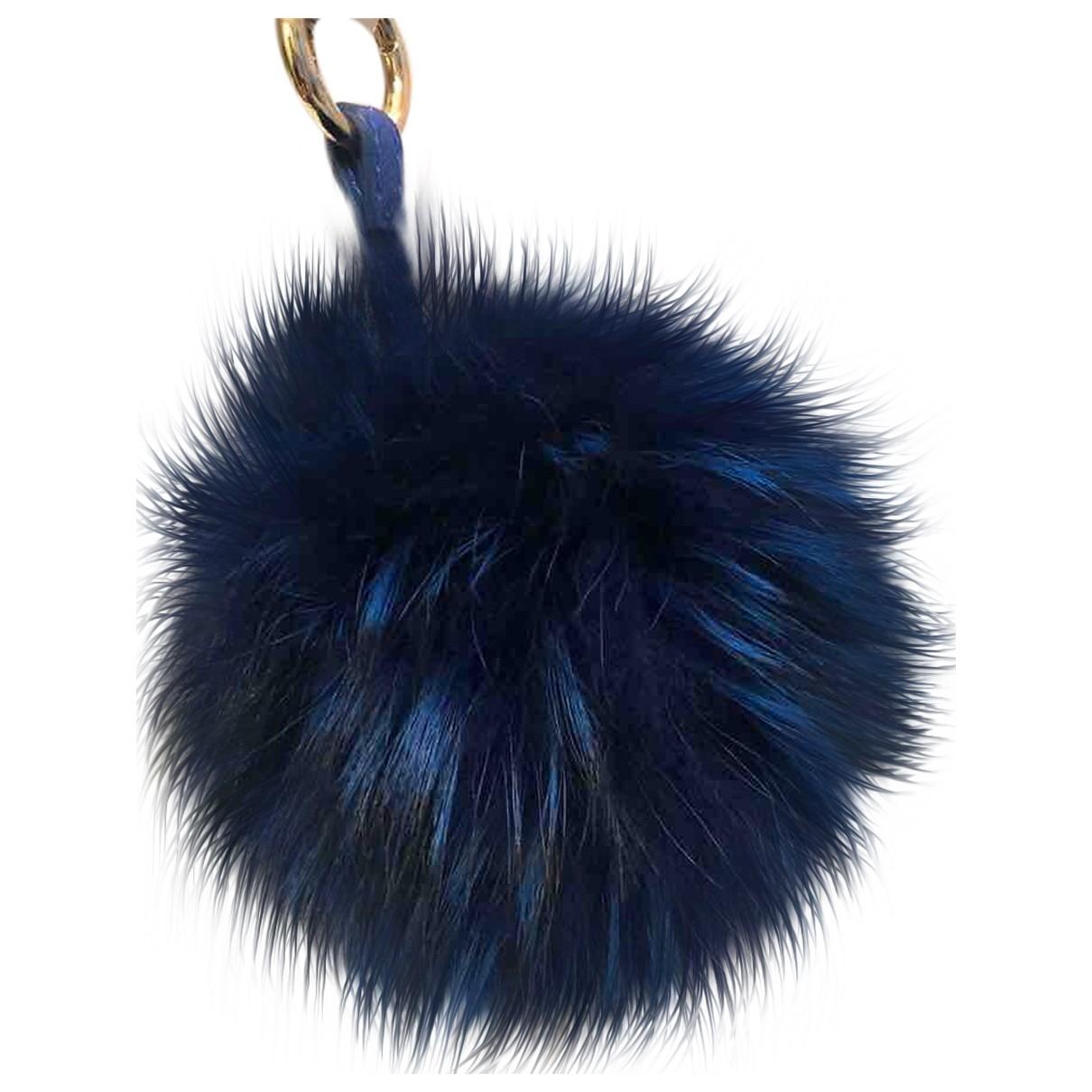 - Petite maroquinerie   pour femme en renard - bleu