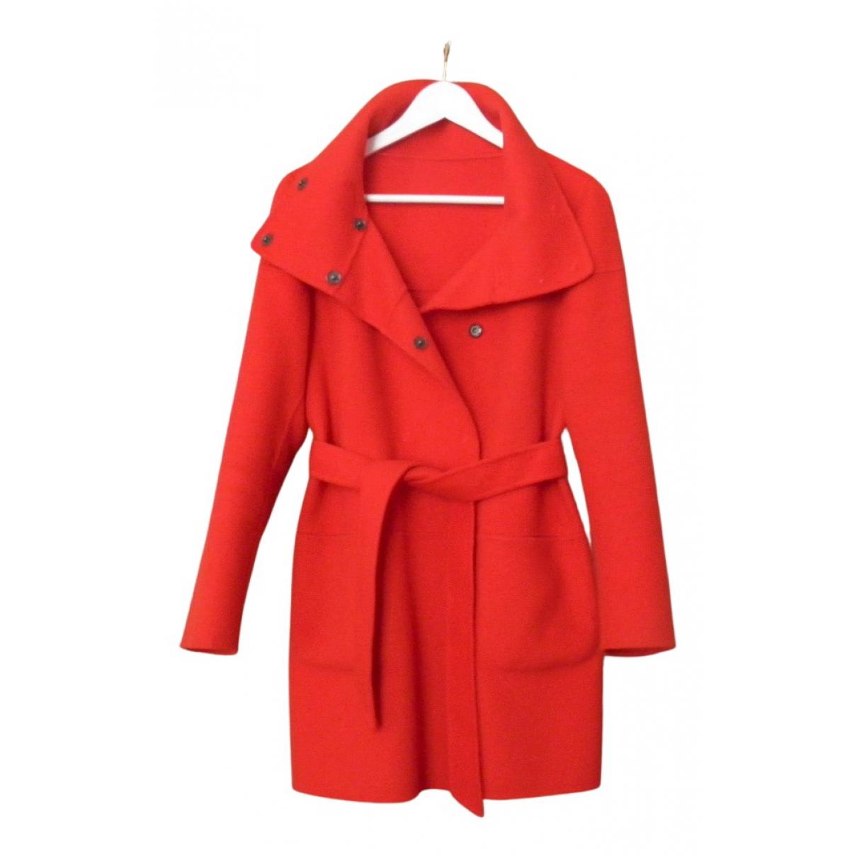 Max Mara Weekend - Manteau   pour femme en laine - rouge