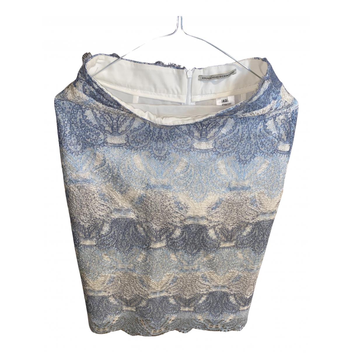Ermanno Scervino - Jupe   pour femme en soie - bleu