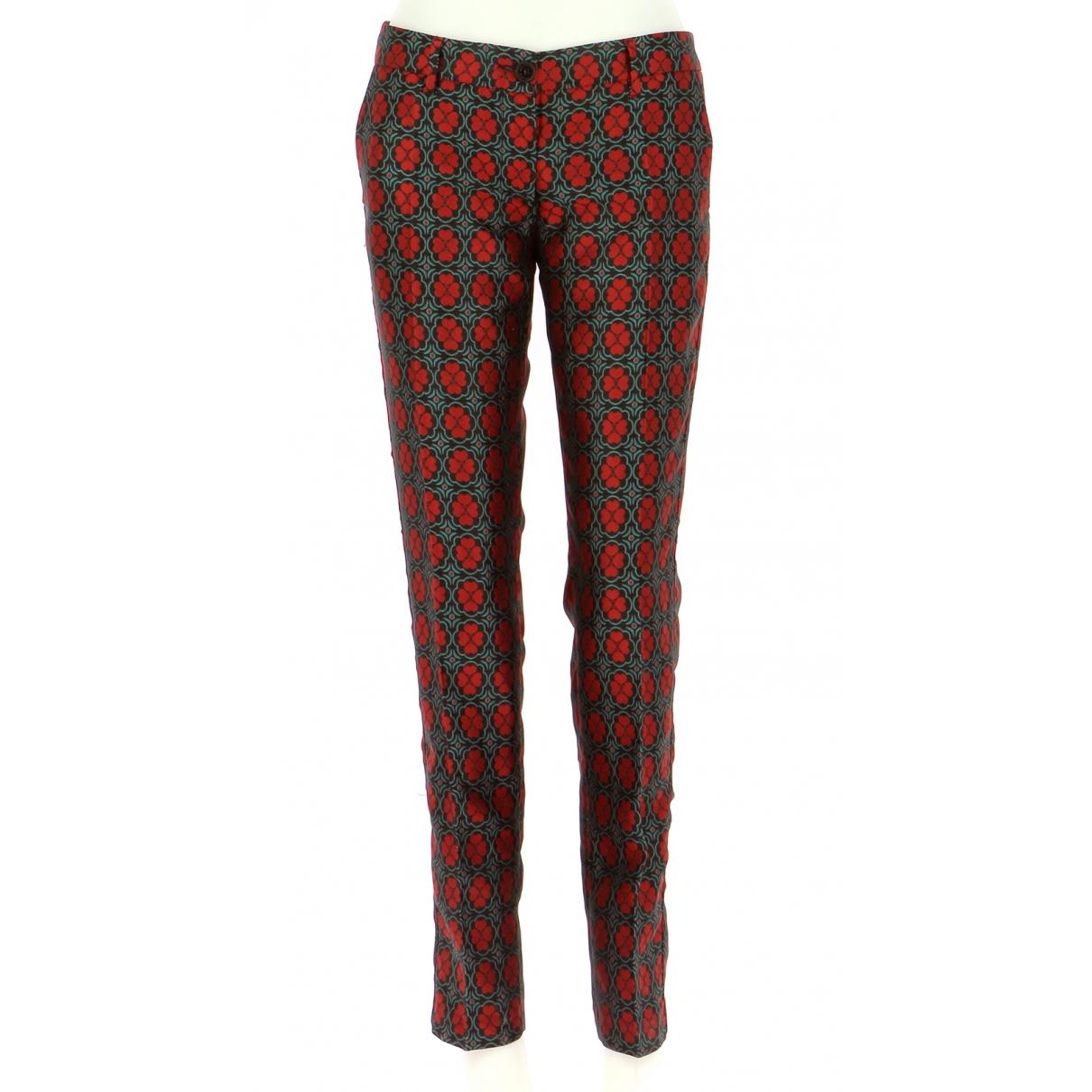 Pantalones en Poliester Rojo Moschino Love