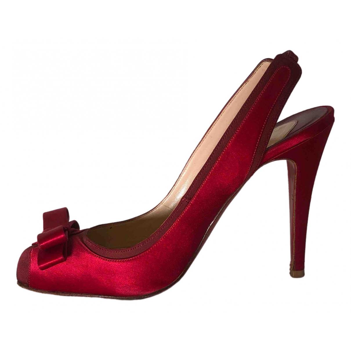 Christian Louboutin \N Red Cloth Heels for Women 38 EU