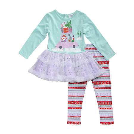 Youngland Baby Girls 2-pc. Legging Set, 24 Months , Multiple Colors