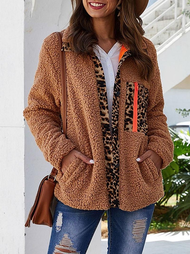 Ericdress Thick Plush Straight Regular Standard Jacket