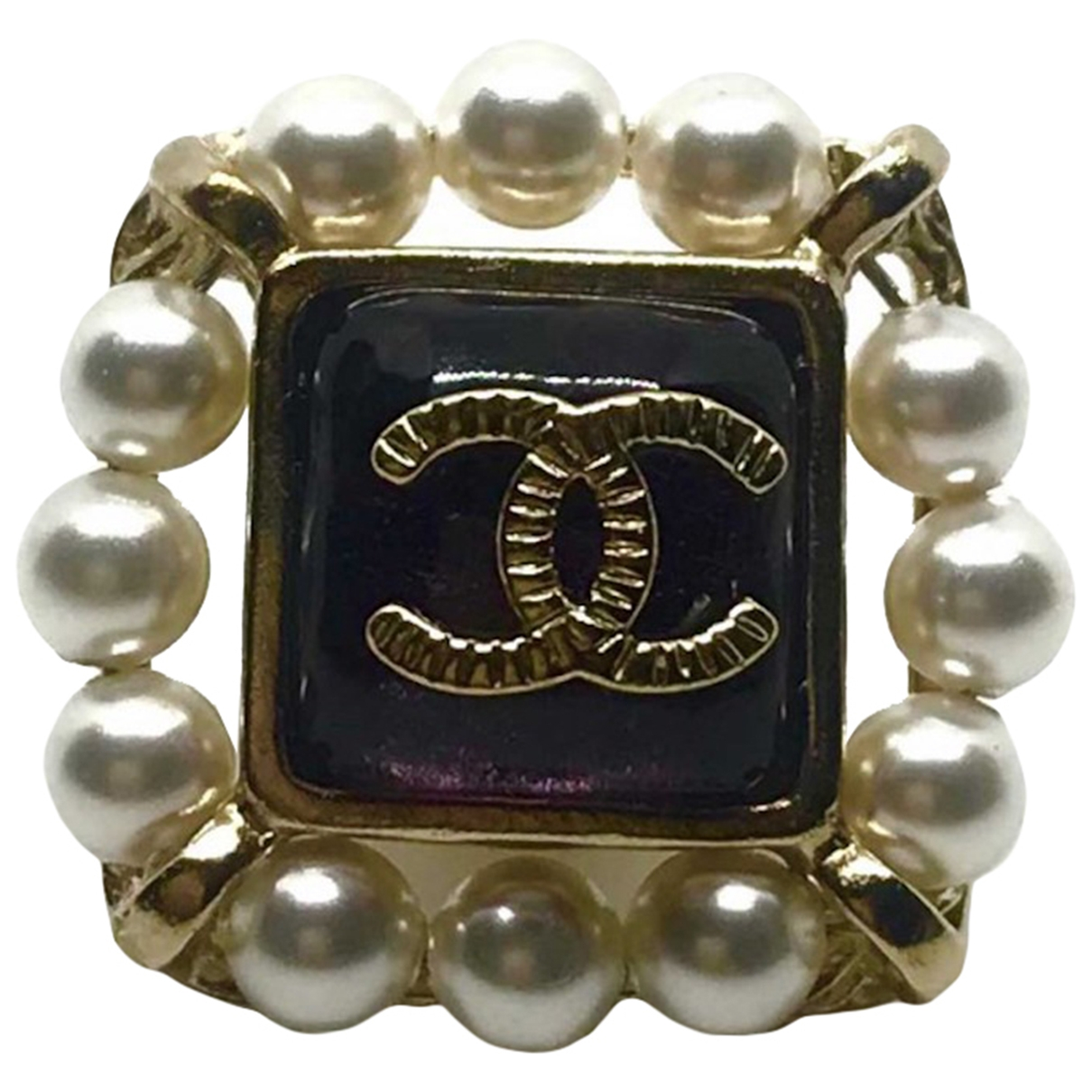 Chanel CC Black Pearl Pins & brooches for Women \N