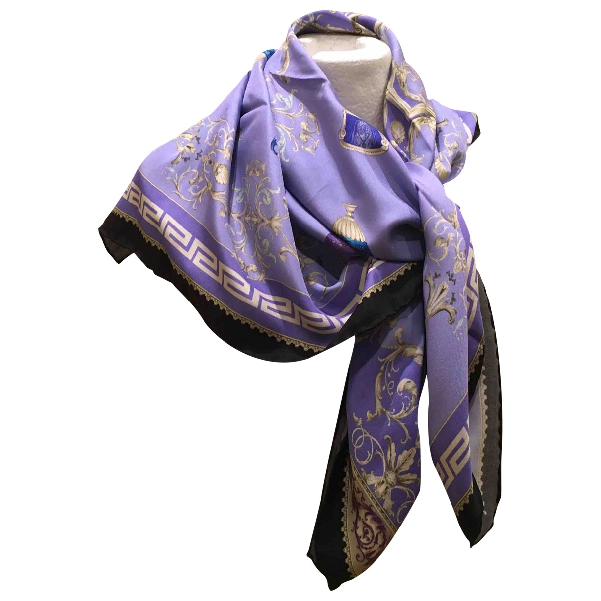 Versace \N Multicolour Silk Silk handkerchief for Women \N