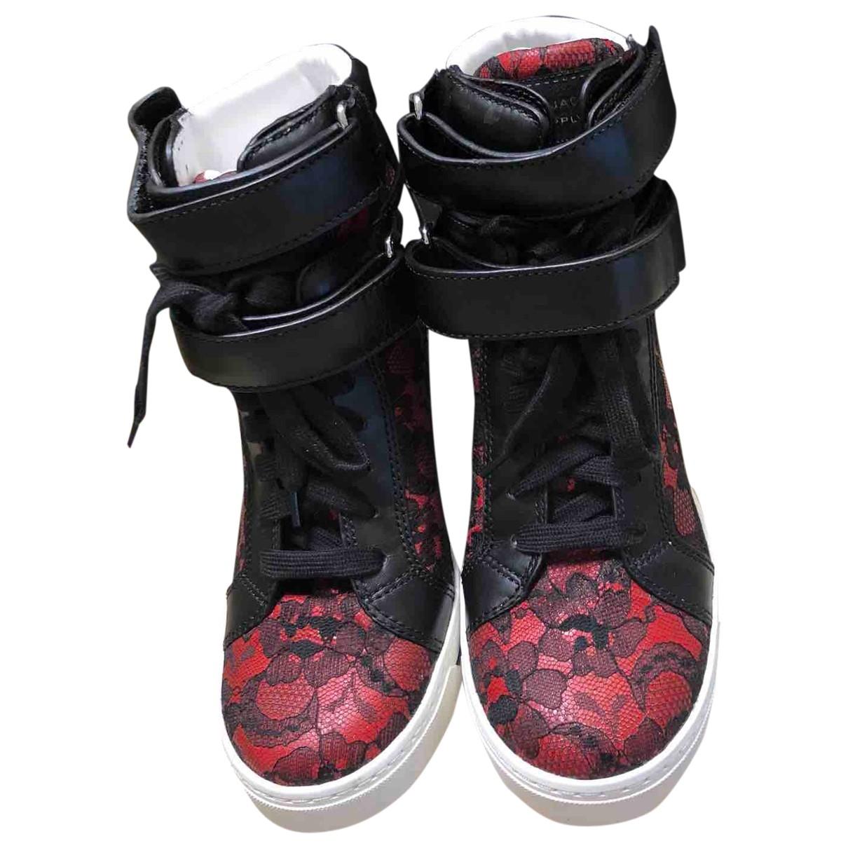 Marc By Marc Jacobs \N Sneakers in  Rot Leder