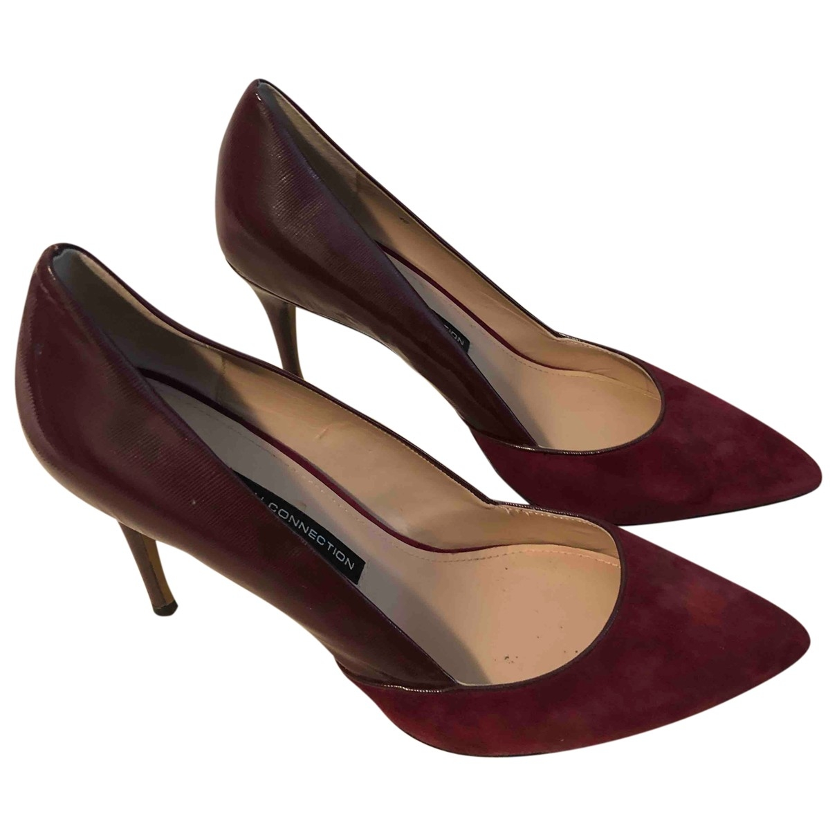 French Connection \N Burgundy Leather Heels for Women 40 EU