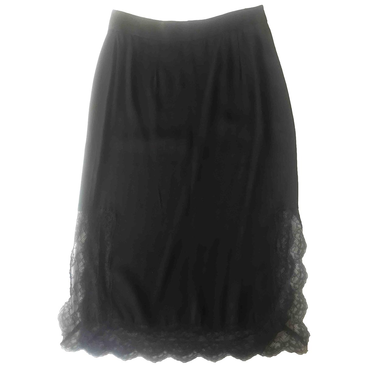 Zara \N Black Silk skirt for Women 36 FR