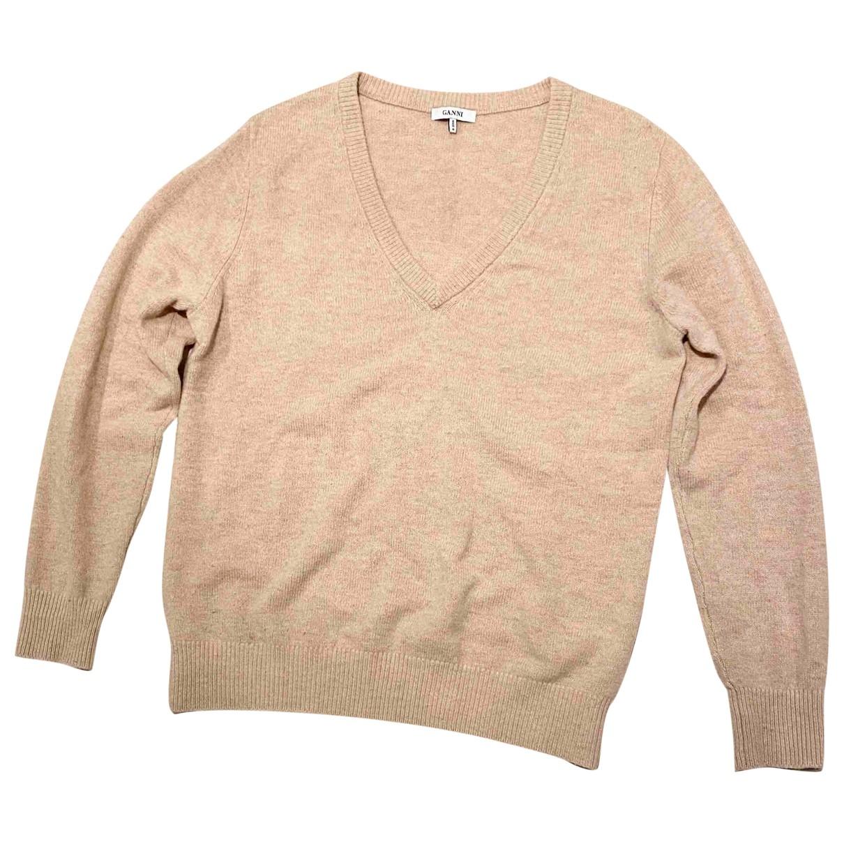 Ganni \N Pullover in  Kamel Wolle