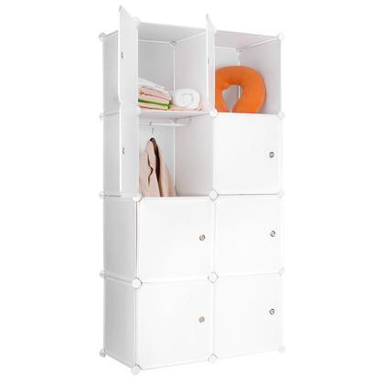 Portable Clothes Closet Wardrobe Bedroom Armoire Storage Organizer with Doors - SortWise™