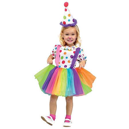 Circus: Big Top Fun Toddler Costume Girls Costume, 2t , White