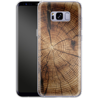 Samsung Galaxy S8 Plus Silikon Handyhuelle - Tree Rings von caseable Designs