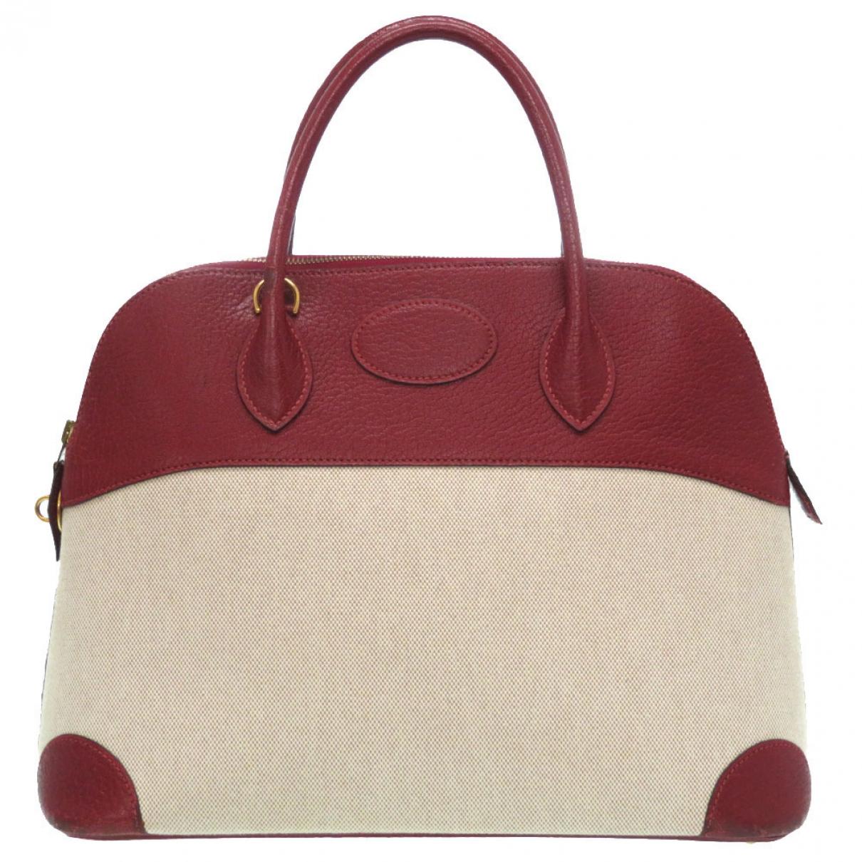 Hermes Bolide Handtasche in  Beige Leinen