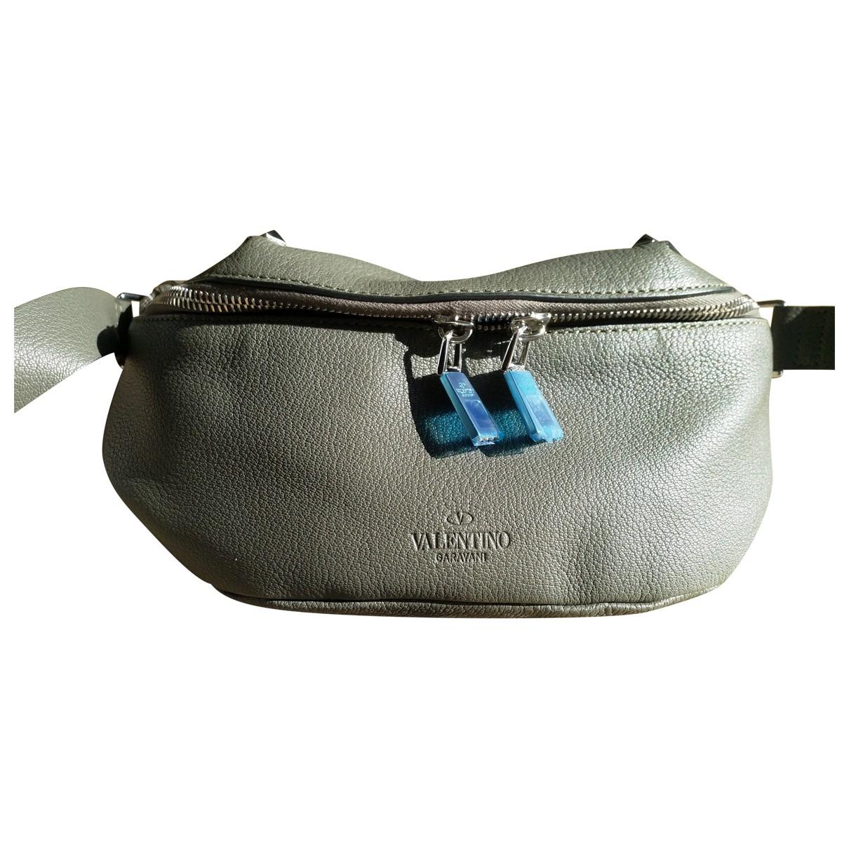 Valentino Garavani - Petite maroquinerie   pour homme en cuir - gris