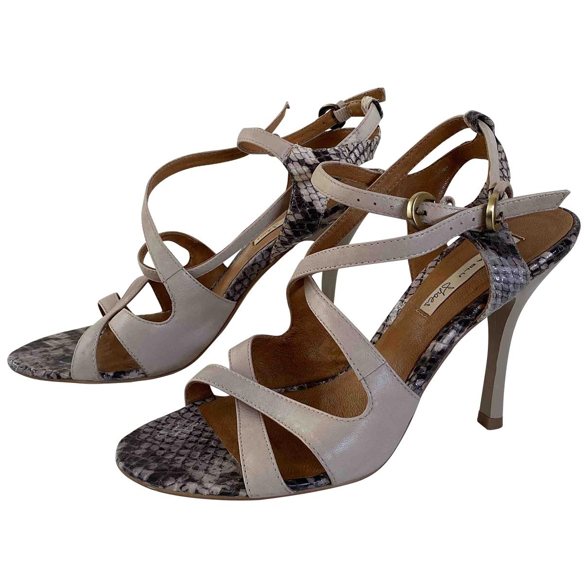 Tosca Blu - Sandales   pour femme en cuir - beige