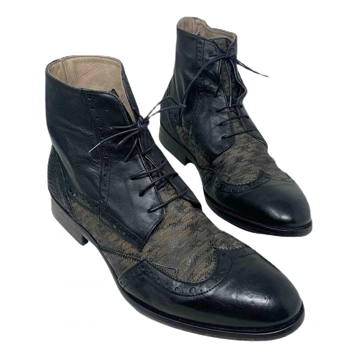 John Richmond \N Stiefel in  Schwarz Leder