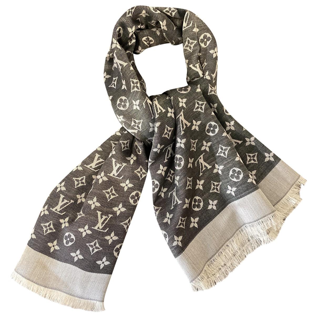 Estola Chale Monogram de Seda Louis Vuitton