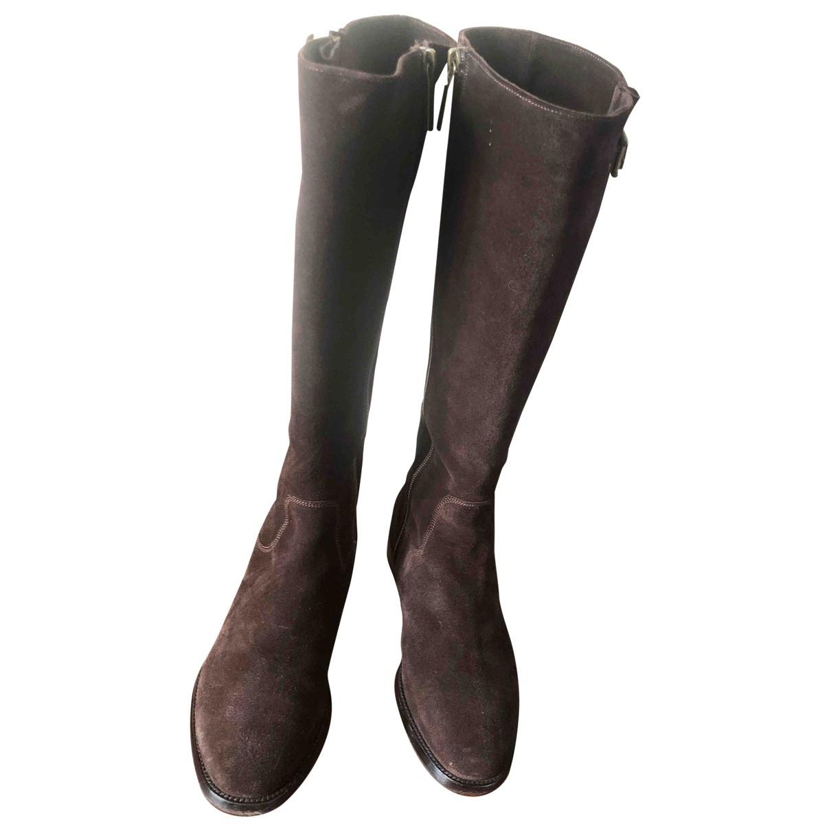 Fratelli Rossetti - Boots   pour femme en suede - marron