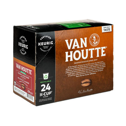 Van Houtte K-Cup Pods - Pack of 24 - Single Serve Coffee Capsules - Decaf Original House Blend, Medium Roast