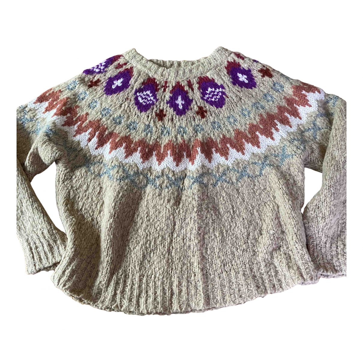 Forte_forte \N Pullover in  Beige Wolle