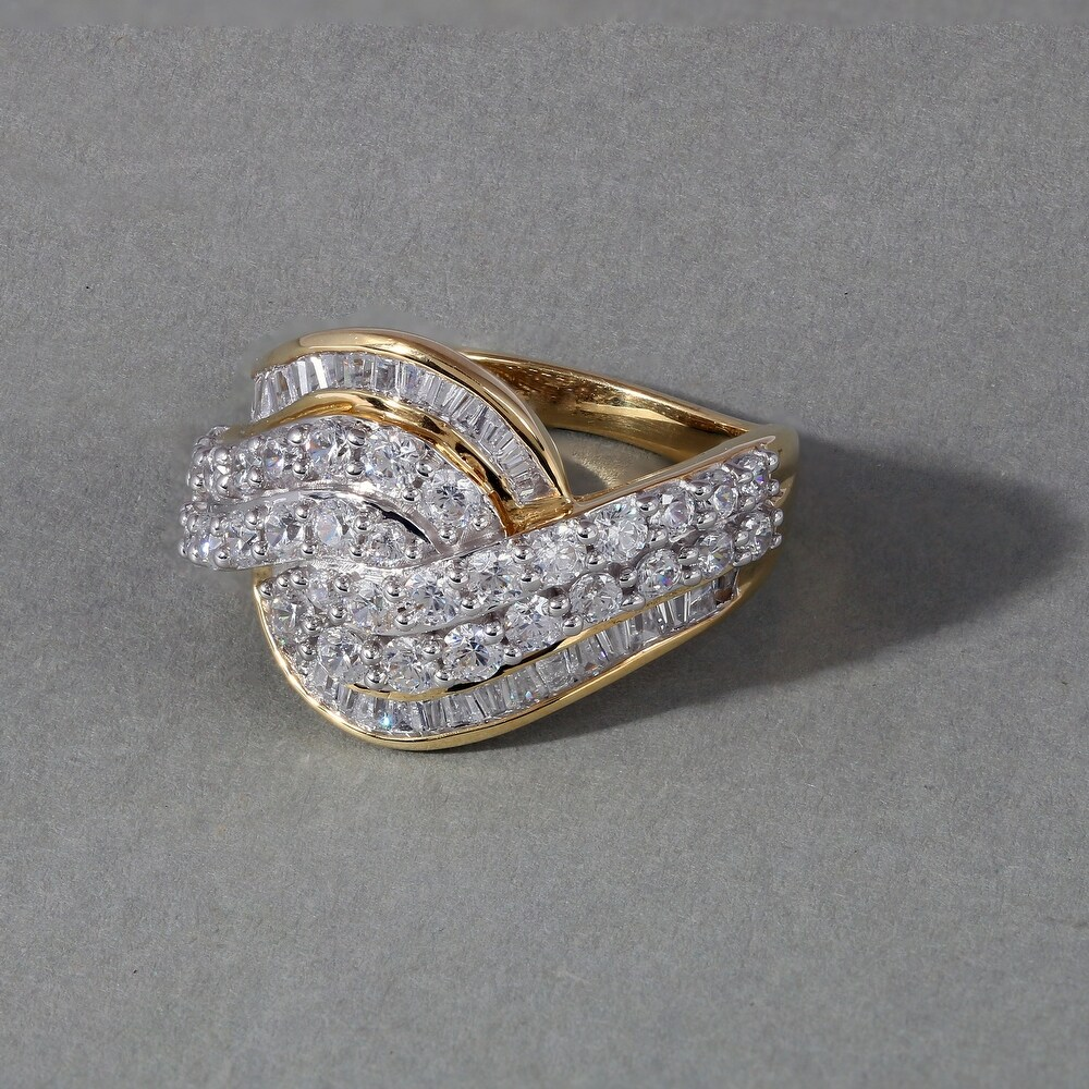 2ct TDW Diamond Bypass Engagement Ring in 10k Yellow Gold (8)