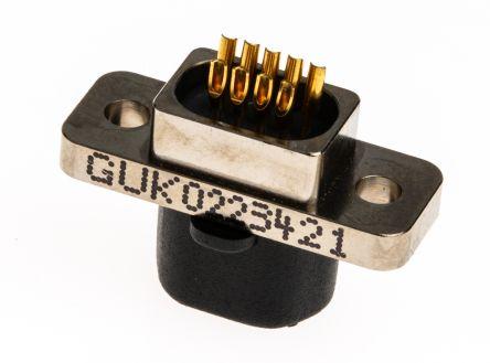 Glenair , MWDM Panel Mount, 9 Pin D-sub Connector Plug Micro-D
