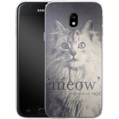 Samsung Galaxy J3 (2017) Silikon Handyhuelle - Famous Quote Cat von Florent Bodart