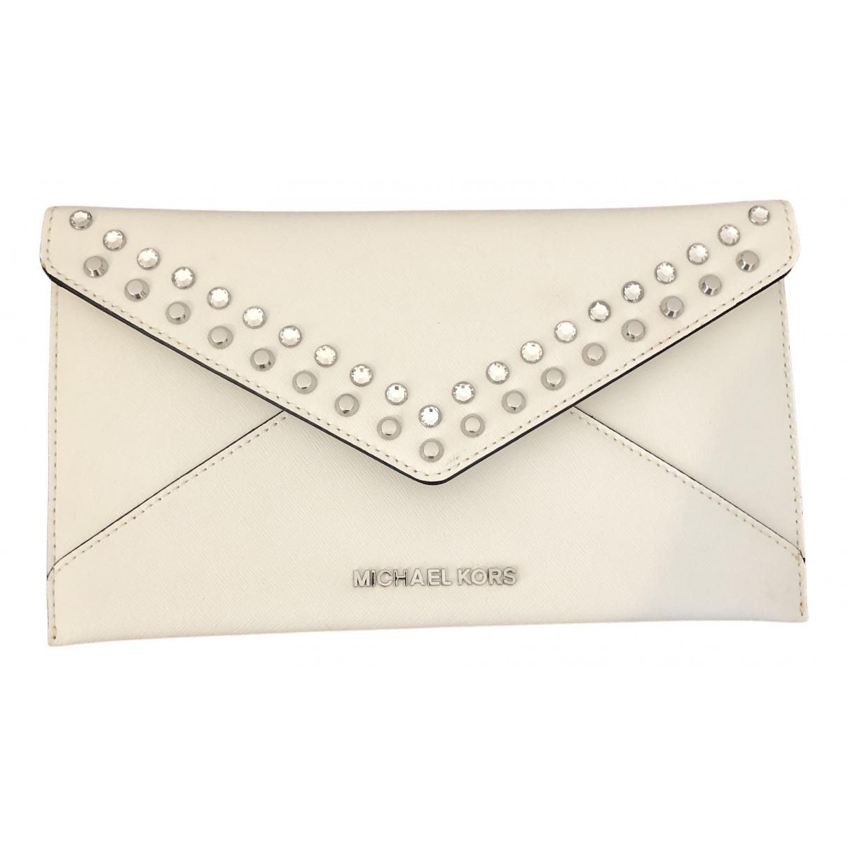 Michael Kors - Pochette Jet Set pour femme en cuir - blanc