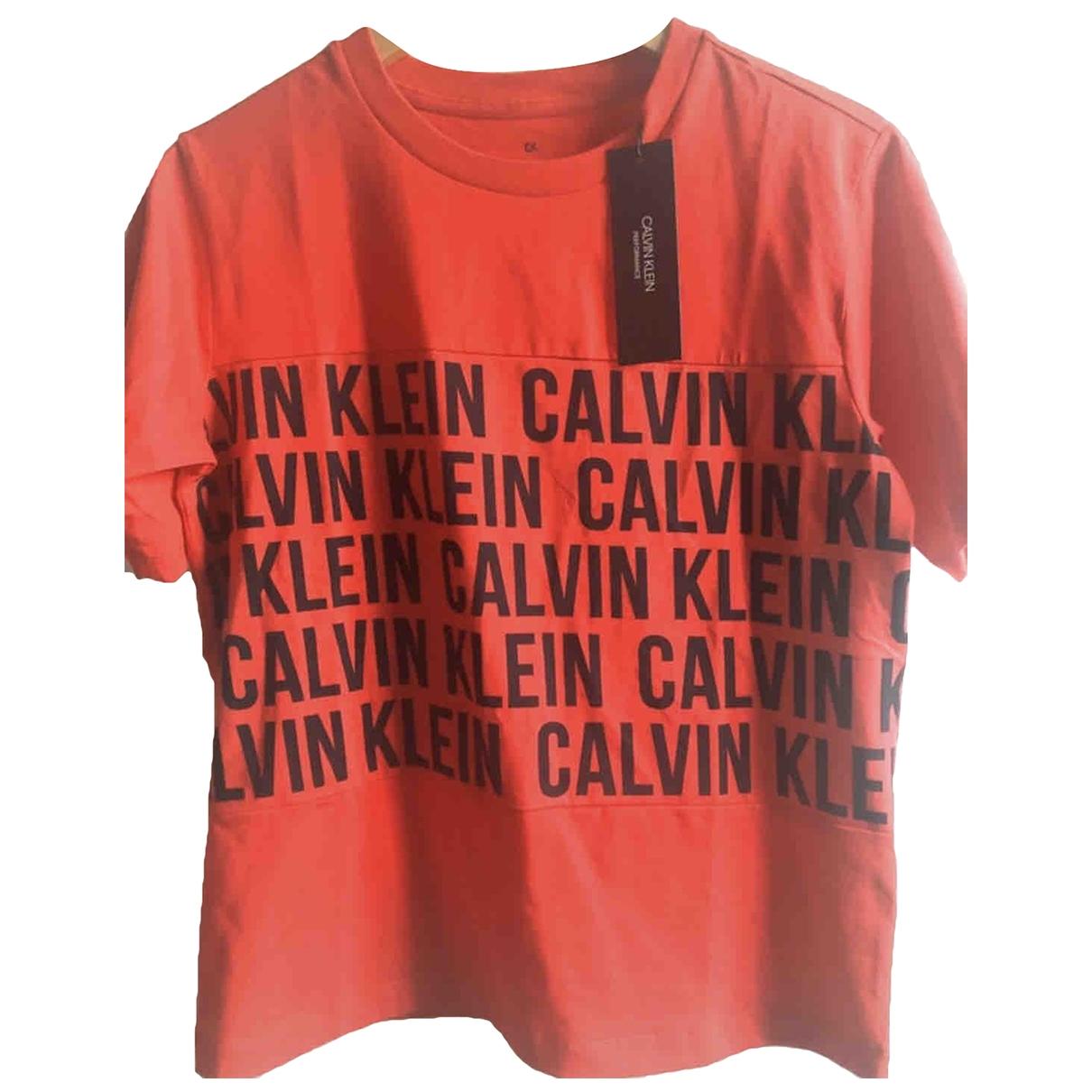 Calvin Klein - Top   pour femme en coton - rouge