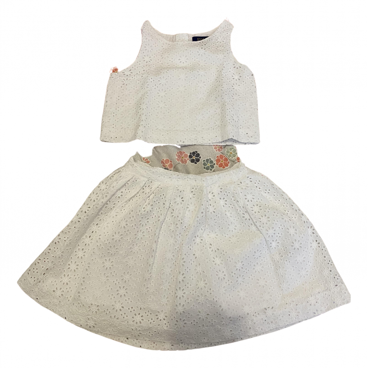 Polo Ralph Lauren N White Cotton dress for Kids 4 years - up to 102cm FR