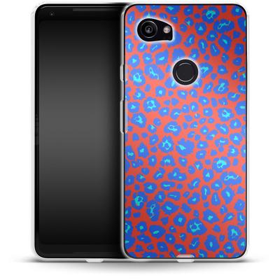 Google Pixel 2 XL Silikon Handyhuelle - Bright Leopard Print von caseable Designs