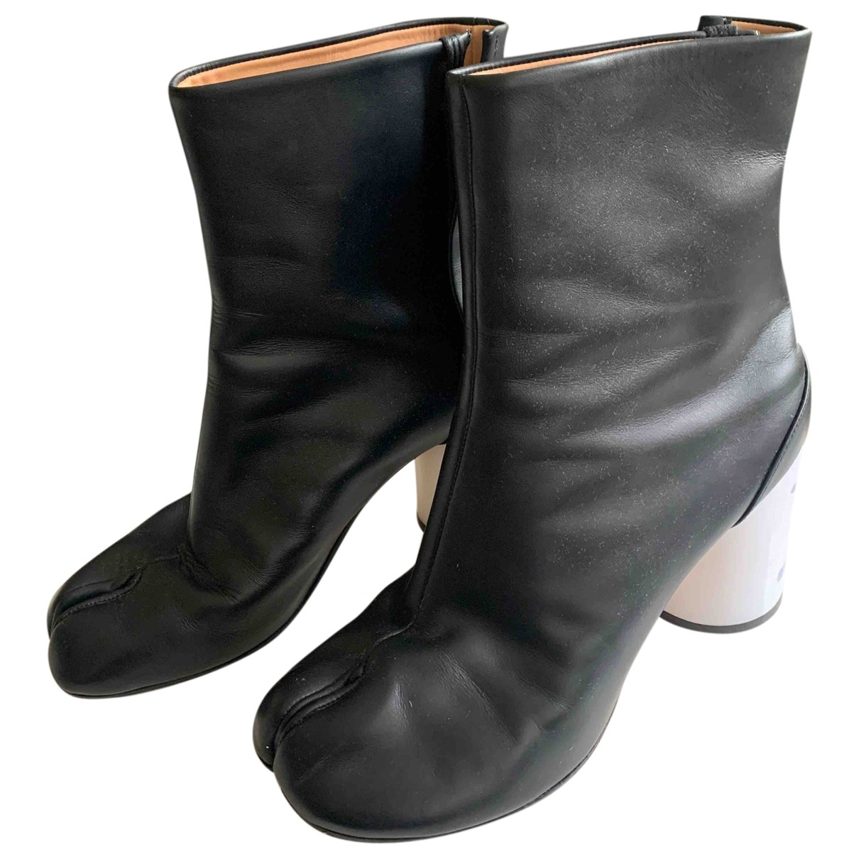 Maison Martin Margiela Tabi Black Leather Boots for Women 39 EU